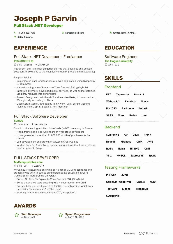 Full Stack Java Developer Resume Elegant Maged Samaan Sr Fullstack Net Developer Cv