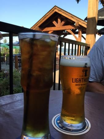 Long Island Iced Tea and a Draught, Crofton Hotel, Crofton, BC