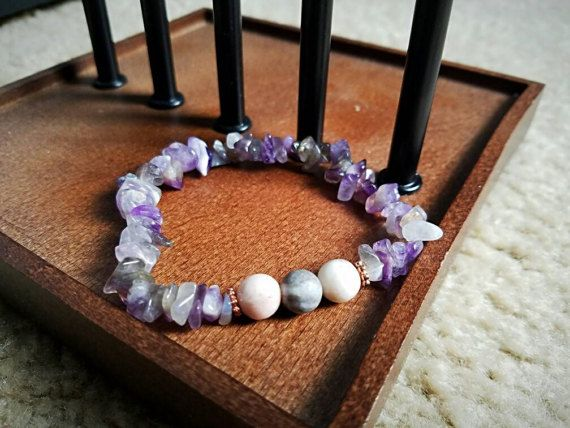 Check out this item in my Etsy shop https://www.etsy.com/listing/511938111/amethyst-gemstone-and-pink-zebra-jasper