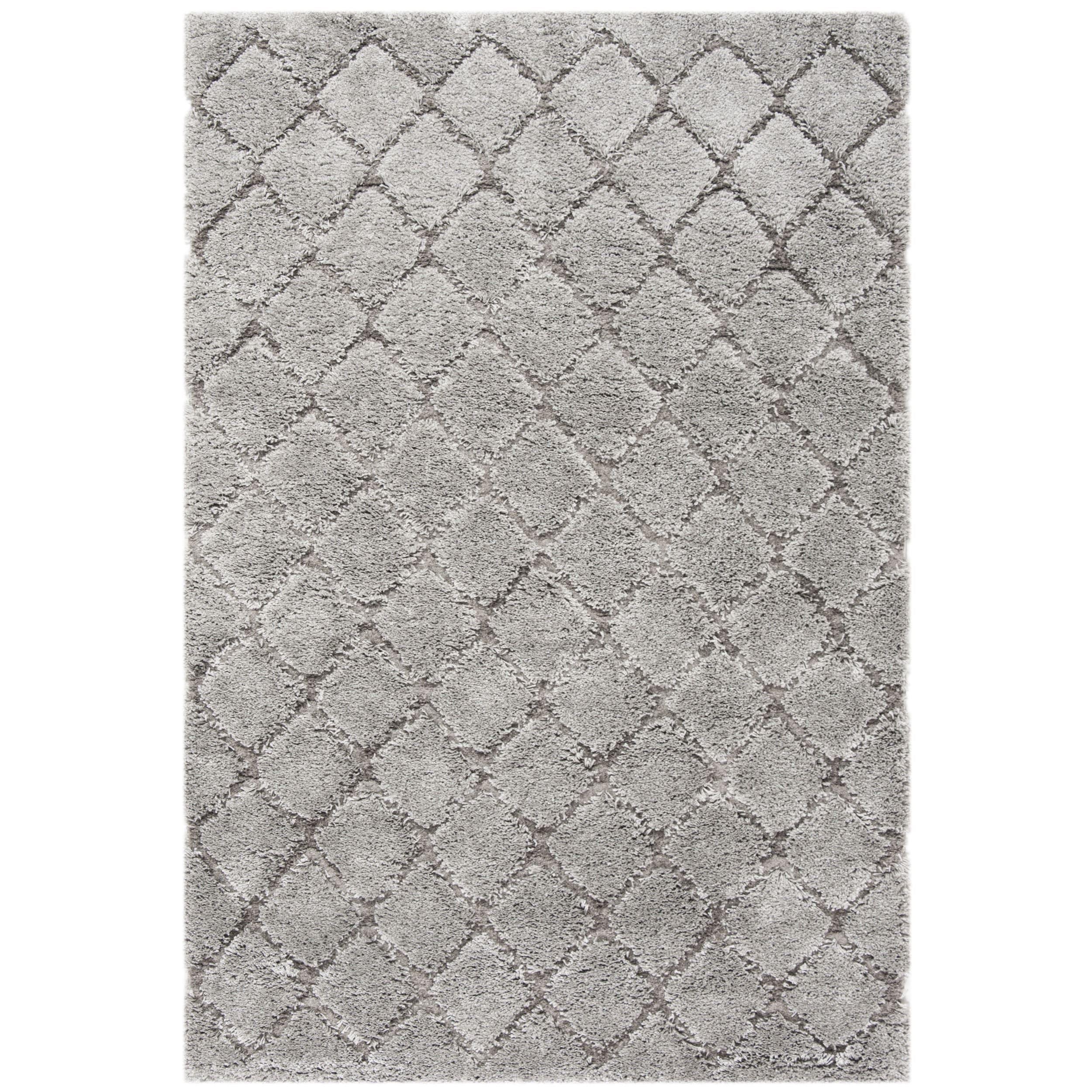 Safavieh Adriana Shag Light Grey/ Light Grey Polyester Rug (5'1 x 7'6) (ARG780B-5)