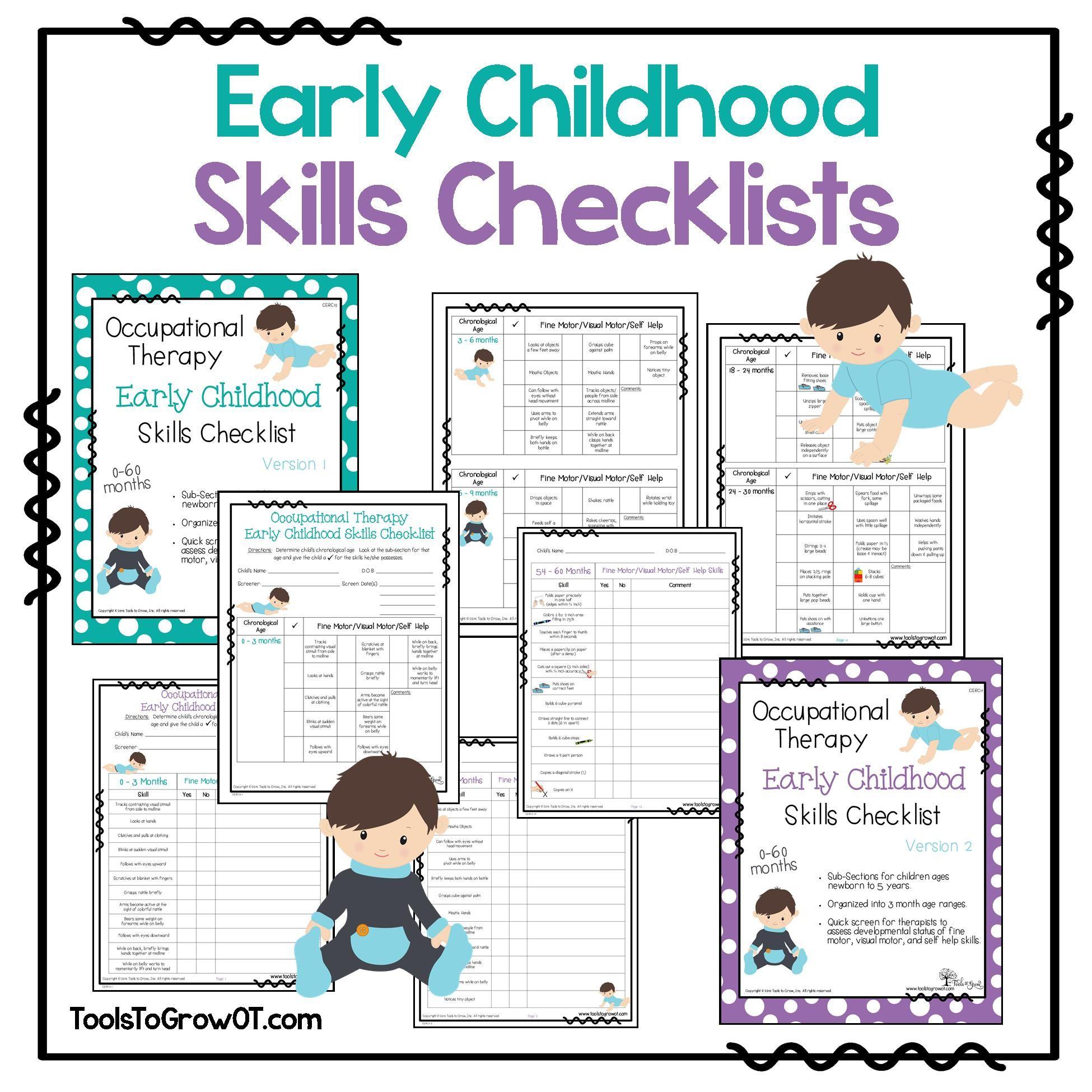 Early Childhood Skills Checklists