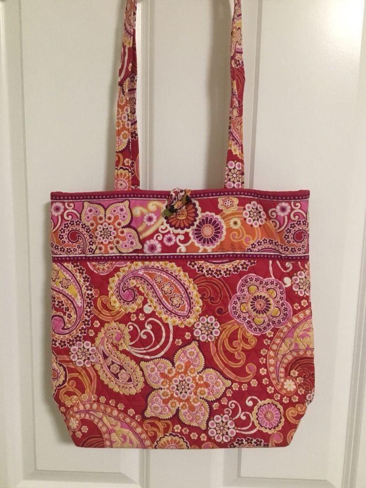8d3d269cc49ab3 Vera Bradley Tote Raspberry Fizz #fashion #clothing #shoes #accessories  #womensbagshandbags (ebay link)
