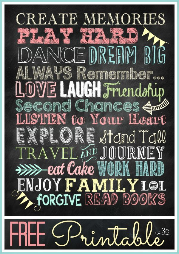 Chalkboard Fonts and Free Printable craft and create Chalkboard