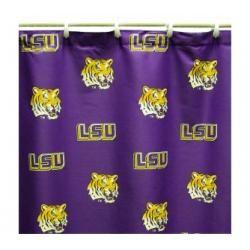 Louisiana State Lsu Tigers 70x72 Printed Shower Curtain Printed Shower Curtain Lsu Cotton Shower Curtain