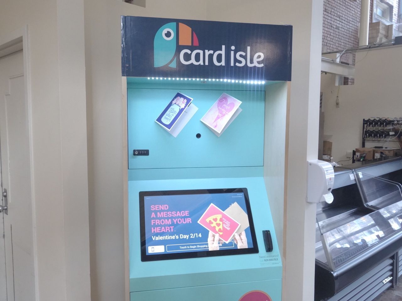 Kiosk For Personalized Greeting Cards Now In Thwing Kiosks