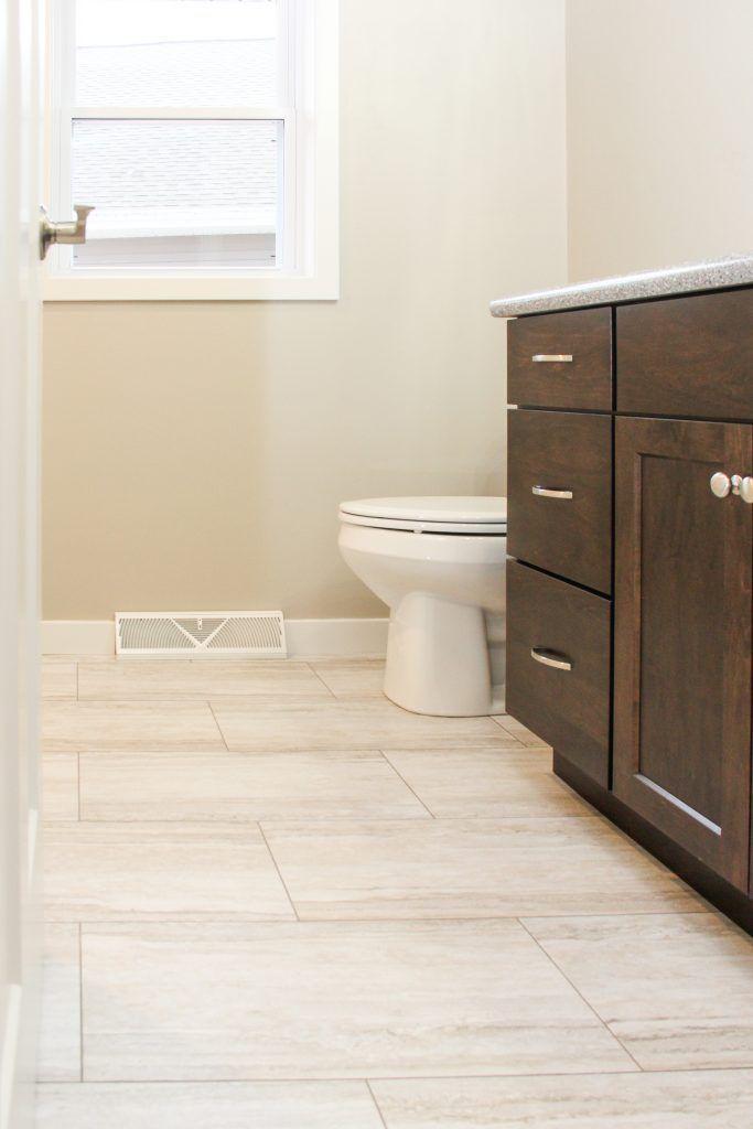 luxury vinyl tile flooring bathroom