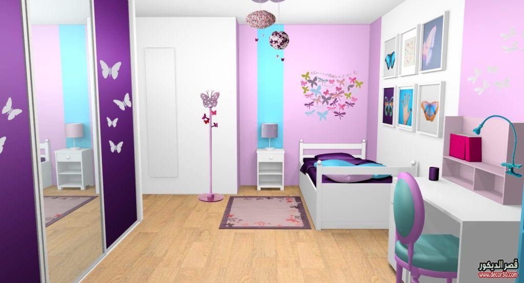 الوان غرف نوم اطفال وديكورات دهانات اوض حديثة للاطفال قصر الديكور Holiday Room Deco Contemporary House Design