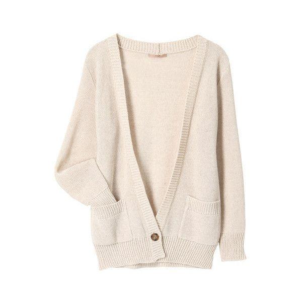 カーディガン (€66) ❤ liked on Polyvore featuring tops, cardigans, outerwear, sweaters, women, pink top and pink cardigan