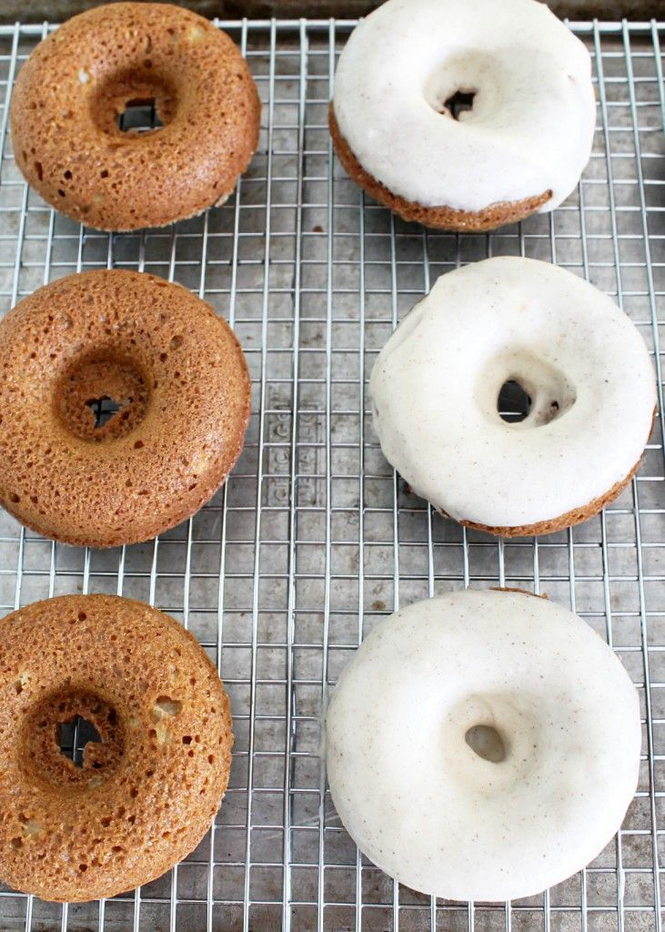 Apple Bran Donuts with Brown Butter Glaze by Foodtastic Mom
