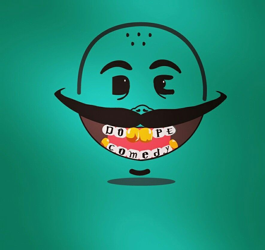 dope comedy is an youtube comedy indian channel... and logo given by me or made by me 😇.  #love #logo #illustration #graphic #art
