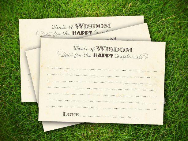 10 Free Bridal Advice Card Templates Wedding