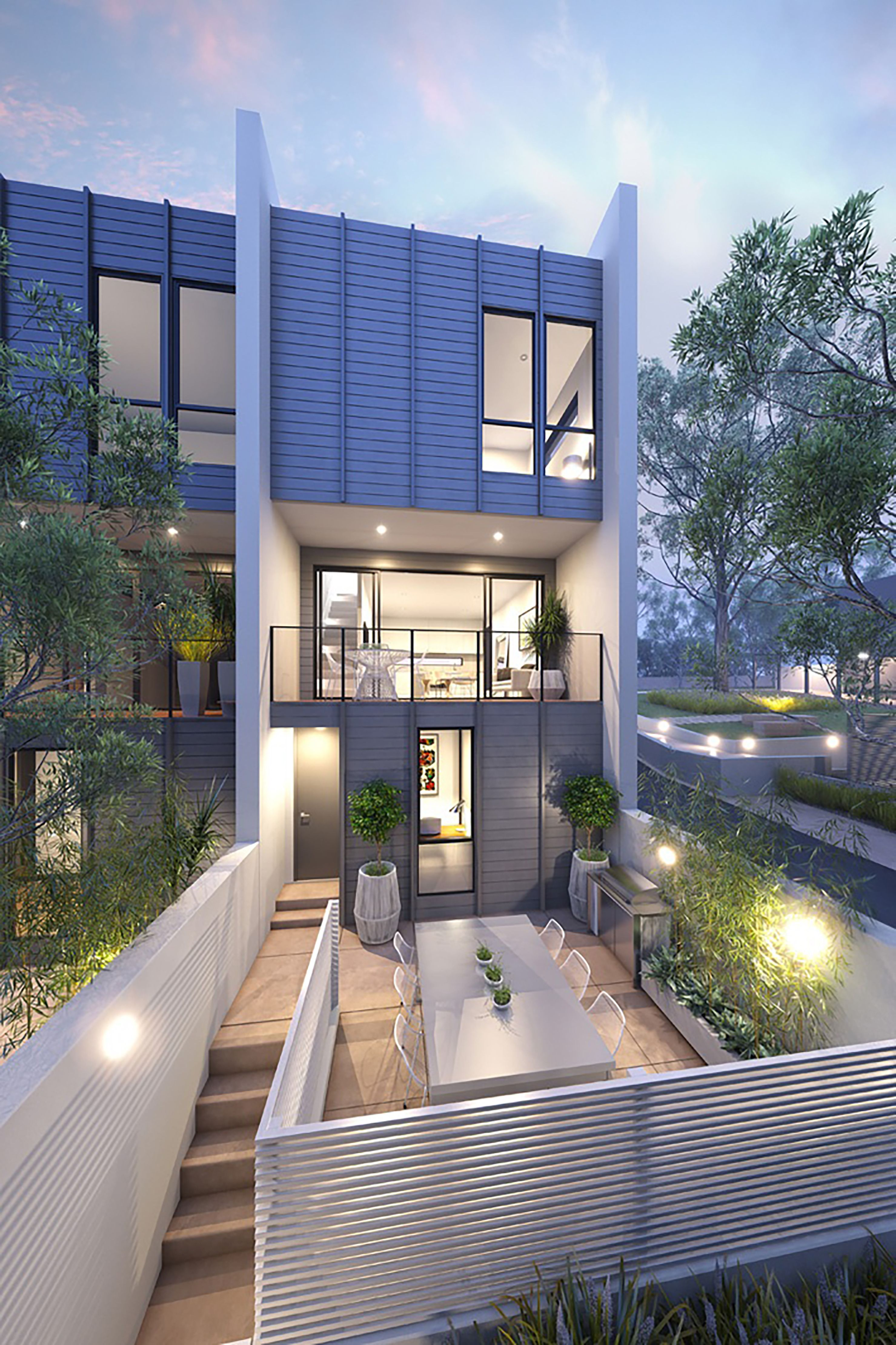 Townhouse Designs, Modern Townhouse, Small