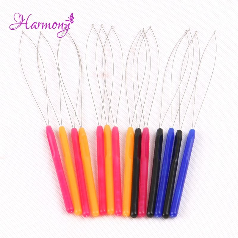 Free Shipping 20 Pcslot Plastic Loop Pulling Needle Micro Rings