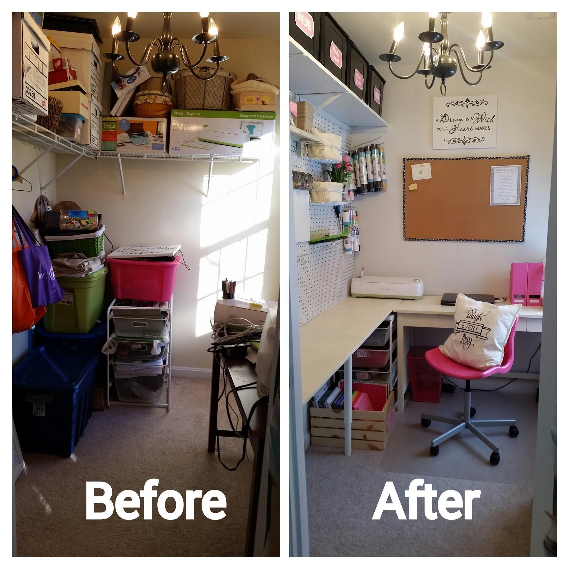Craft Room Redo Reveal Turn A Closet Into A Craft Room