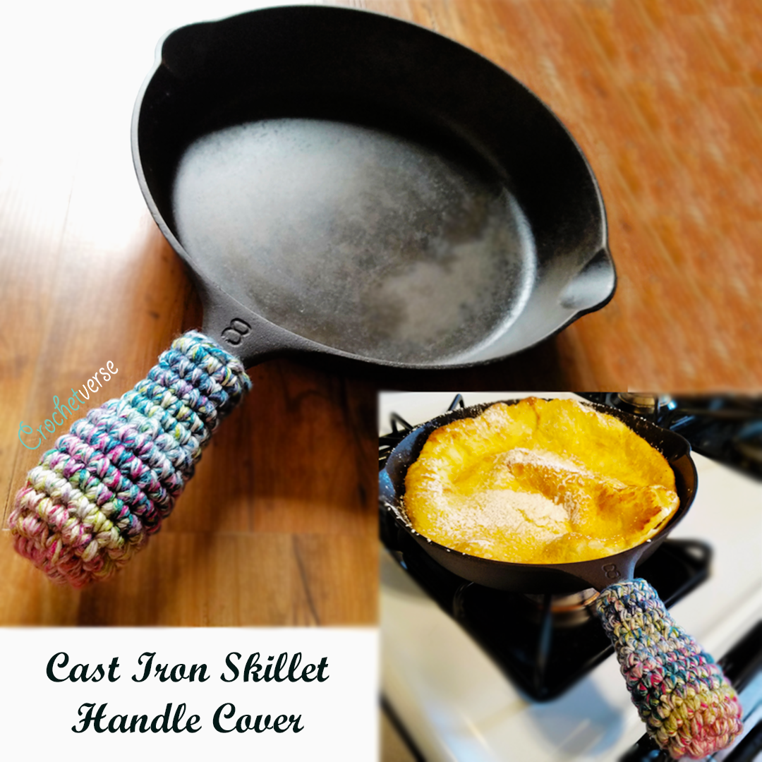 Free Crochet Cast Iron Skillet Handle Cover Pattern From
