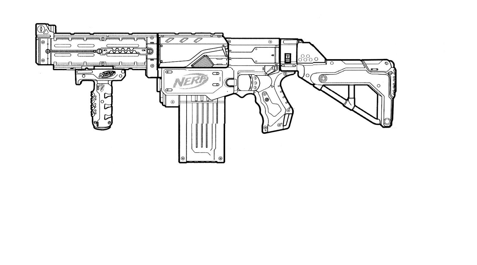 Nerf Retaliator Template This Means Nerf War Pinterest Nerf Coloring Pages