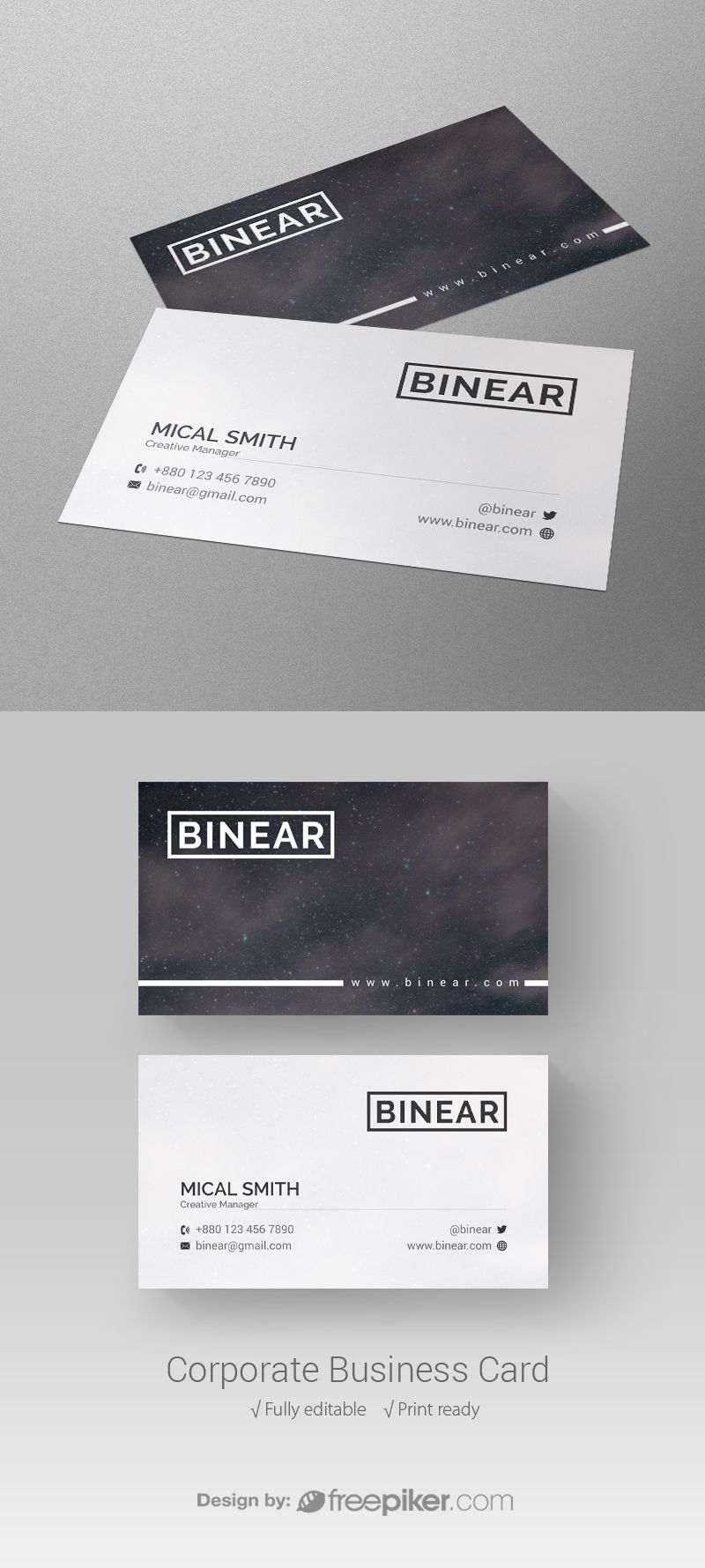 Corporate Business Card Corporate Business Card Business Cards Event Poster Design