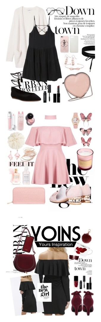 """""""Date Night - Summer"""" by leanatsumi ❤ liked on Polyvore featuring Hiho Silver, Boohoo, Monki, MANGO, B Brian Atwood, Ted Baker, STELLA McCARTNEY, Bobbi Brown Cosmetics, Witchery and Red Camel"""