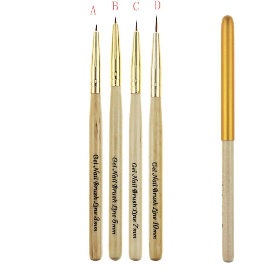 1PC Gel Nail Brush Line different sizes Painting Lining Pen Flower ...
