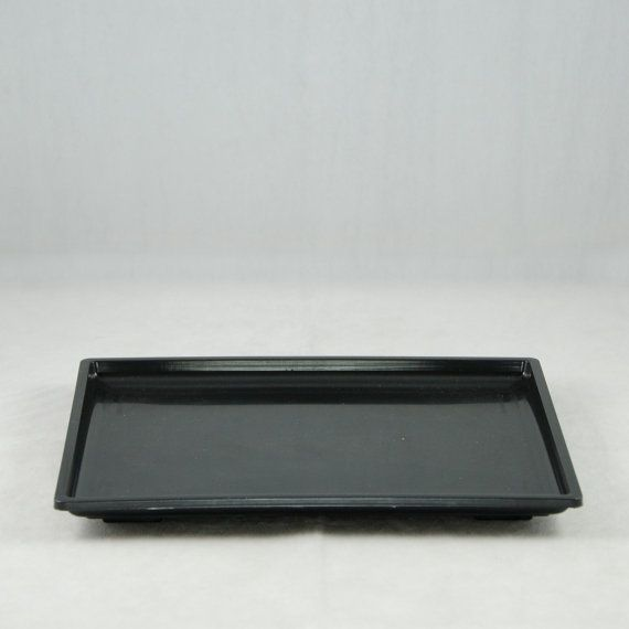 Rectangular Black Plastic Humidity Drip Tray For By Calibonsai
