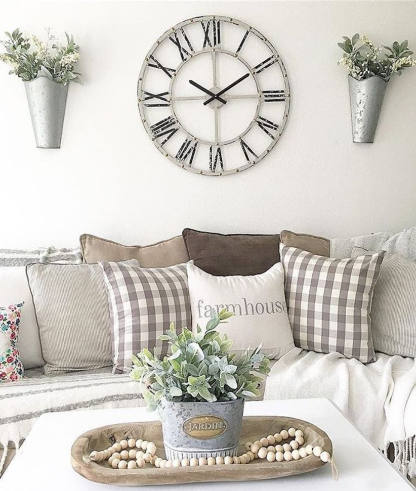 Outstanding 52 Unique Wall Clock Ideas For Your Living Room Http Decortip Com Index Php 2 Room Wall Decor Wall Decor Living Room Farmhouse Decor Living Room
