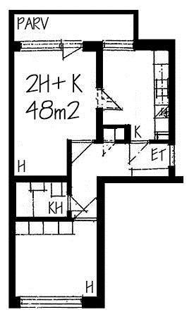 Vanha viertotie, Etelä-Haaga, Helsinki, 2h+k 48 m², SATO vuokra-asunto