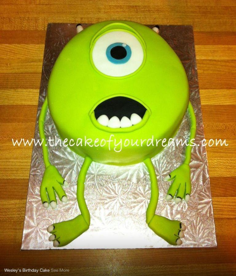 Incredible Monsters Inc Mike Cake Monster Inc Birthday Monster Inc Cakes Personalised Birthday Cards Epsylily Jamesorg