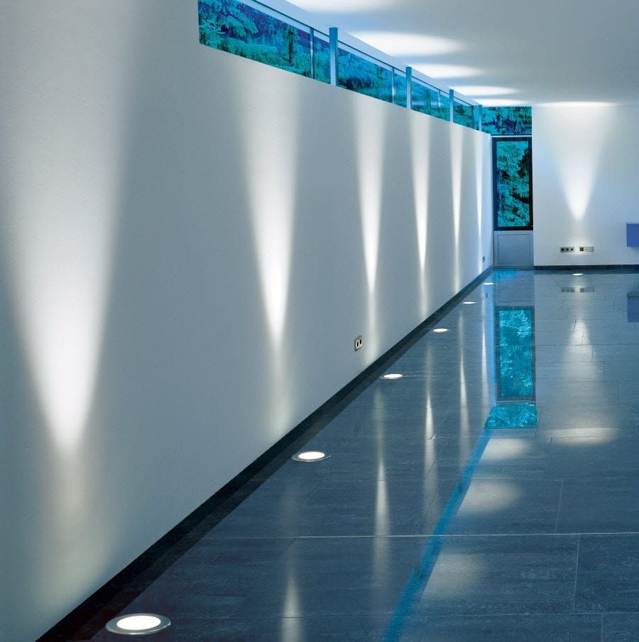 Recessed Floor Light Fixture Compact Fluorescent Hid Led