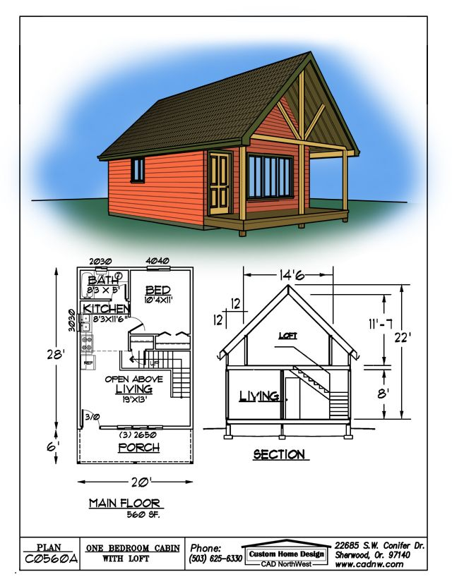 sales drawing C0560A in 2019 | Shed to tiny house, Little house ...