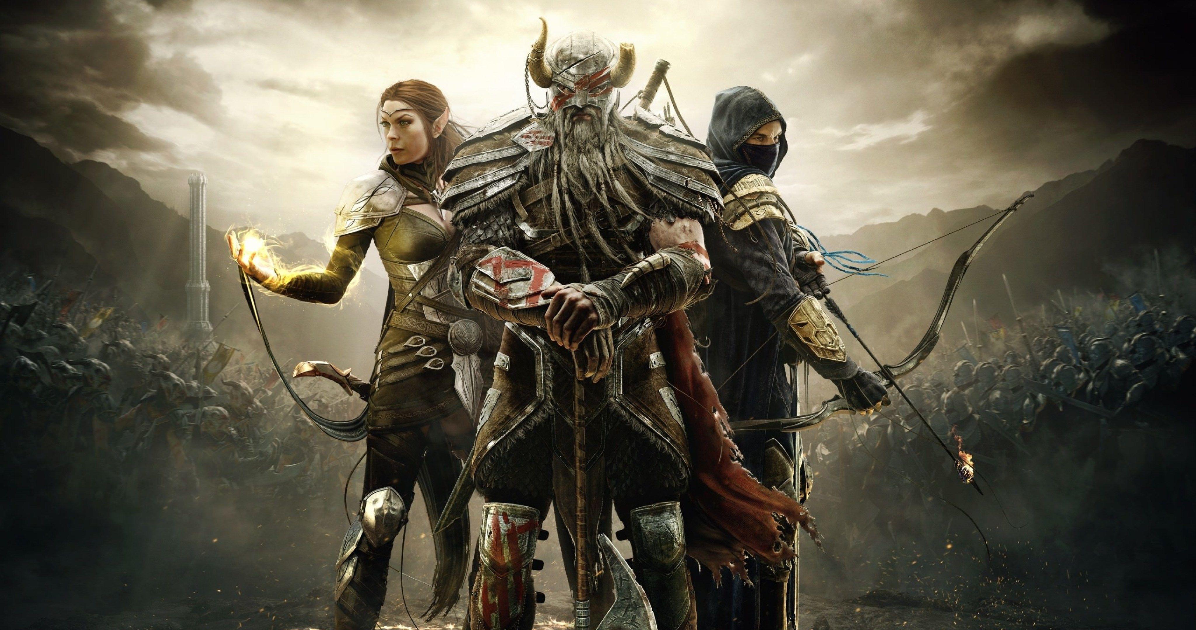 The Elder Scrolls Online Game 4k Ultra Hd Wallpaper Elder Scrolls Elder Scrolls Online Skyrim Dragon Armor
