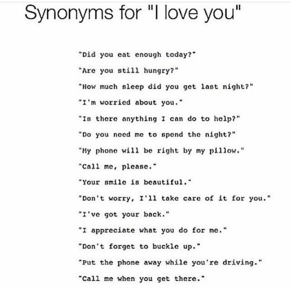 Synonyms For I Love You Words Spruche
