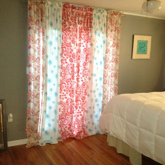 Mix Match Panels Could Also Use As Shower Curtain