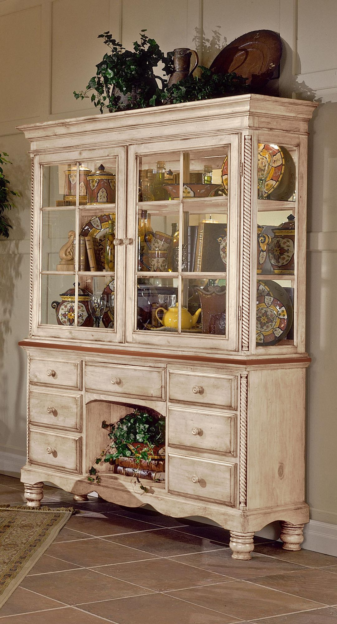 Hillsdale Coastal Birch Corner China Cabinet