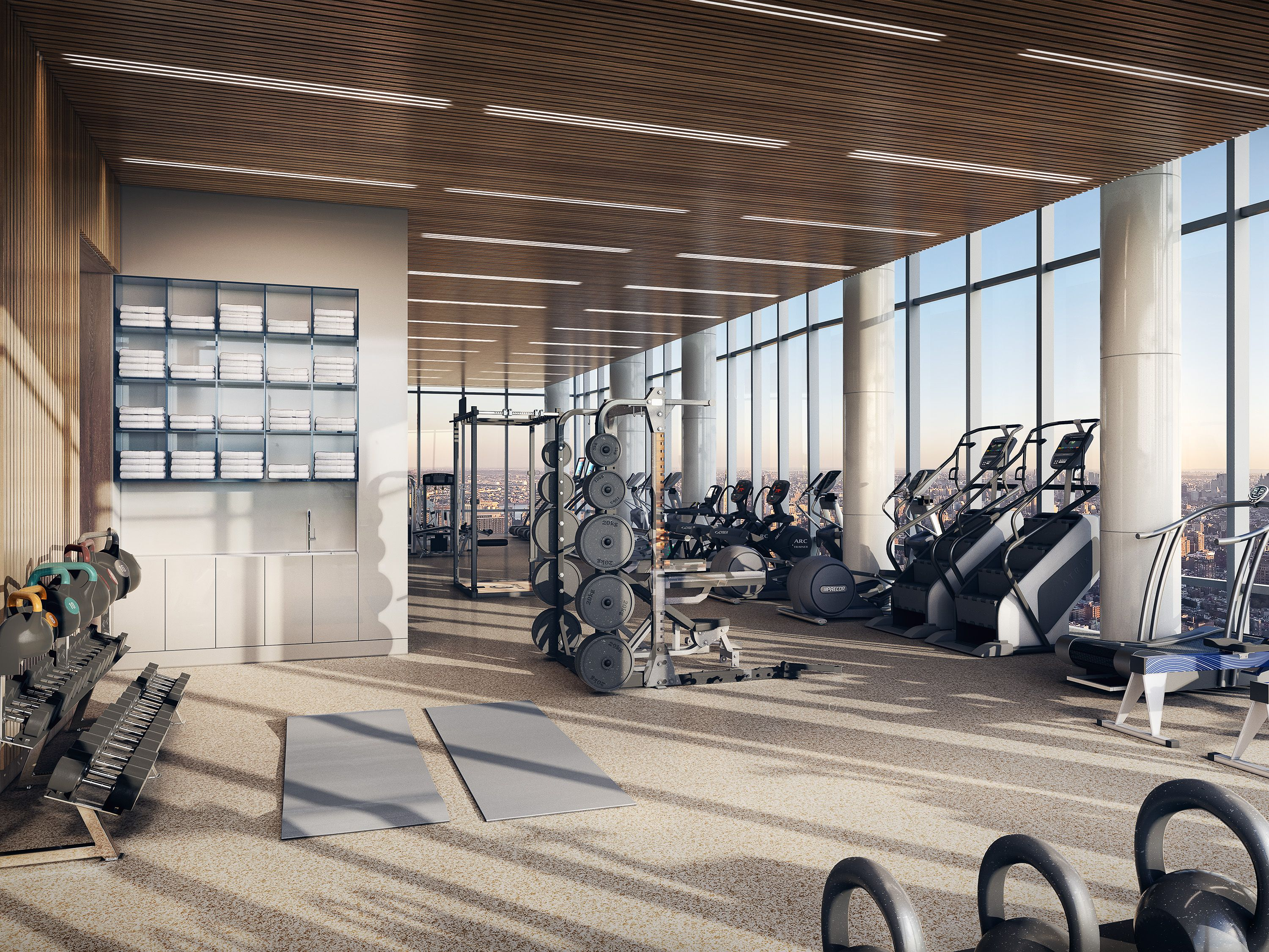 15 Hudson Yards Reveals Its Over The Top Perks For Residents Gym Design Interior Fitness Center Design Hudson Yards