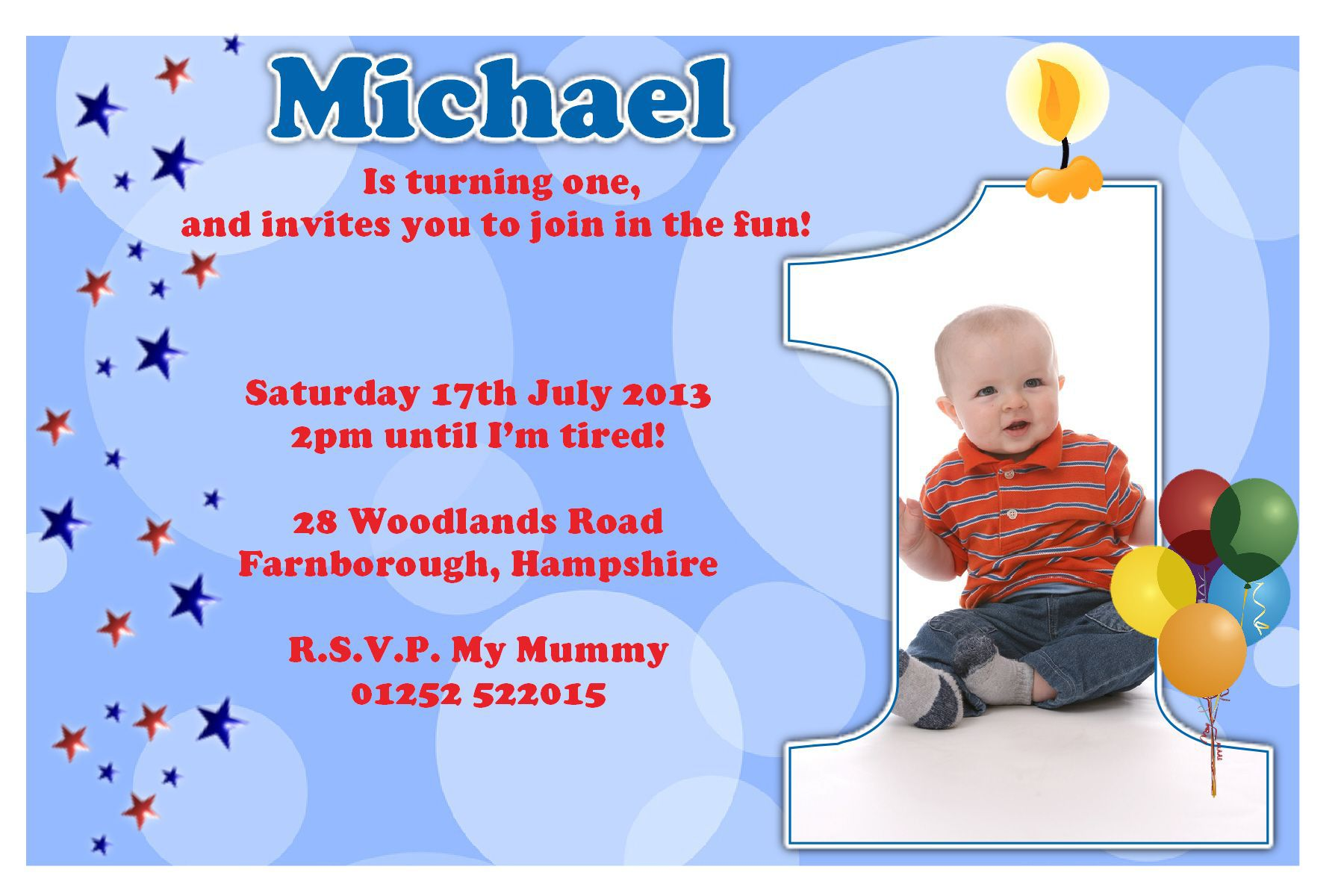 Birthday Party Invitation Template Sample Invitation Templates - First birthday invitation cards templates free