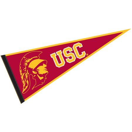 College Flags And Banners Co Usc Trojans 12 X 30 Felt College Pennant Walmart Com College Pennants College Flags Usc