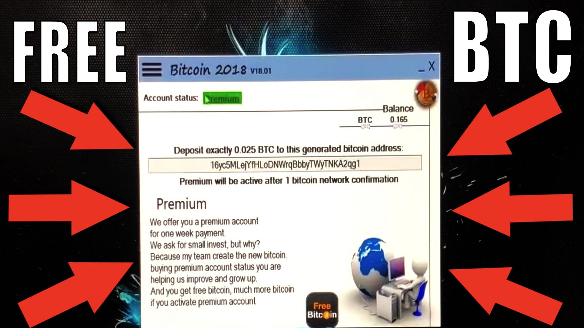 2018] Free BTC Hack! New Software Free Bitcoin 100% Work