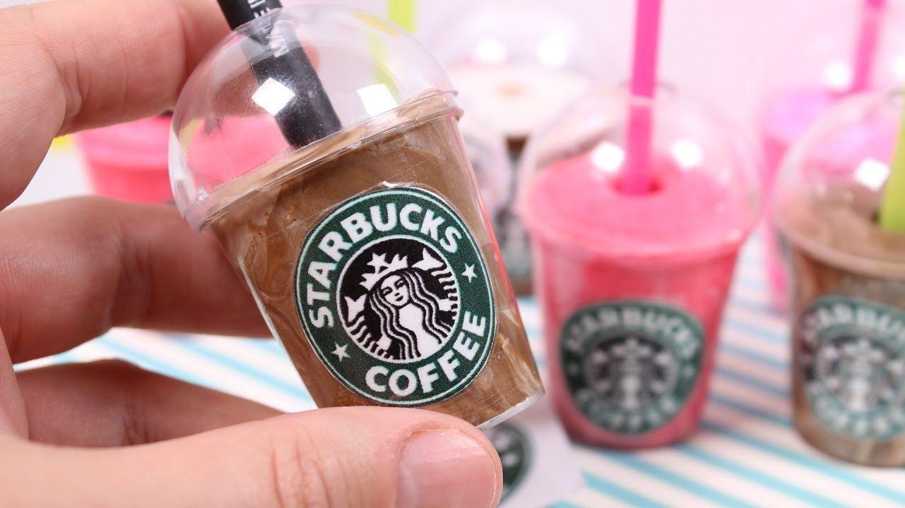 Diy Mini Starbucks Drink Pen Holder Starbucks Crafts Diy Doll