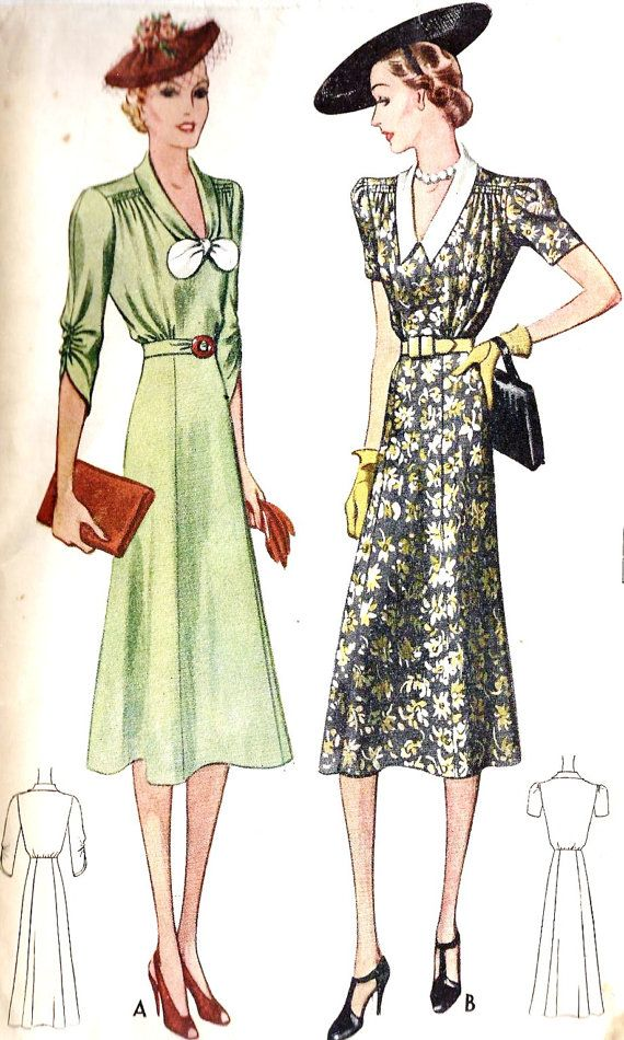 1930s day dress Simplicity 2413 | kleit | Pinterest | 30er jahre ...