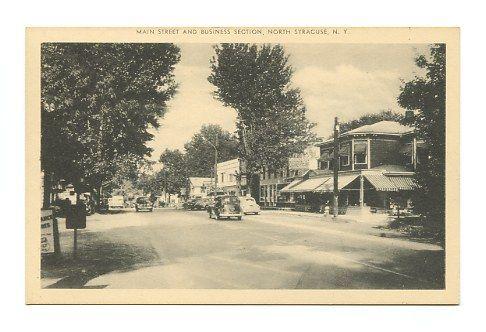 North Syracuse NY Main St. 1940's | Onondaga county, Old ...