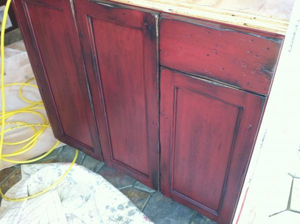 Red and Black Distressed Furniture   2014 Crested Butte Faux ...