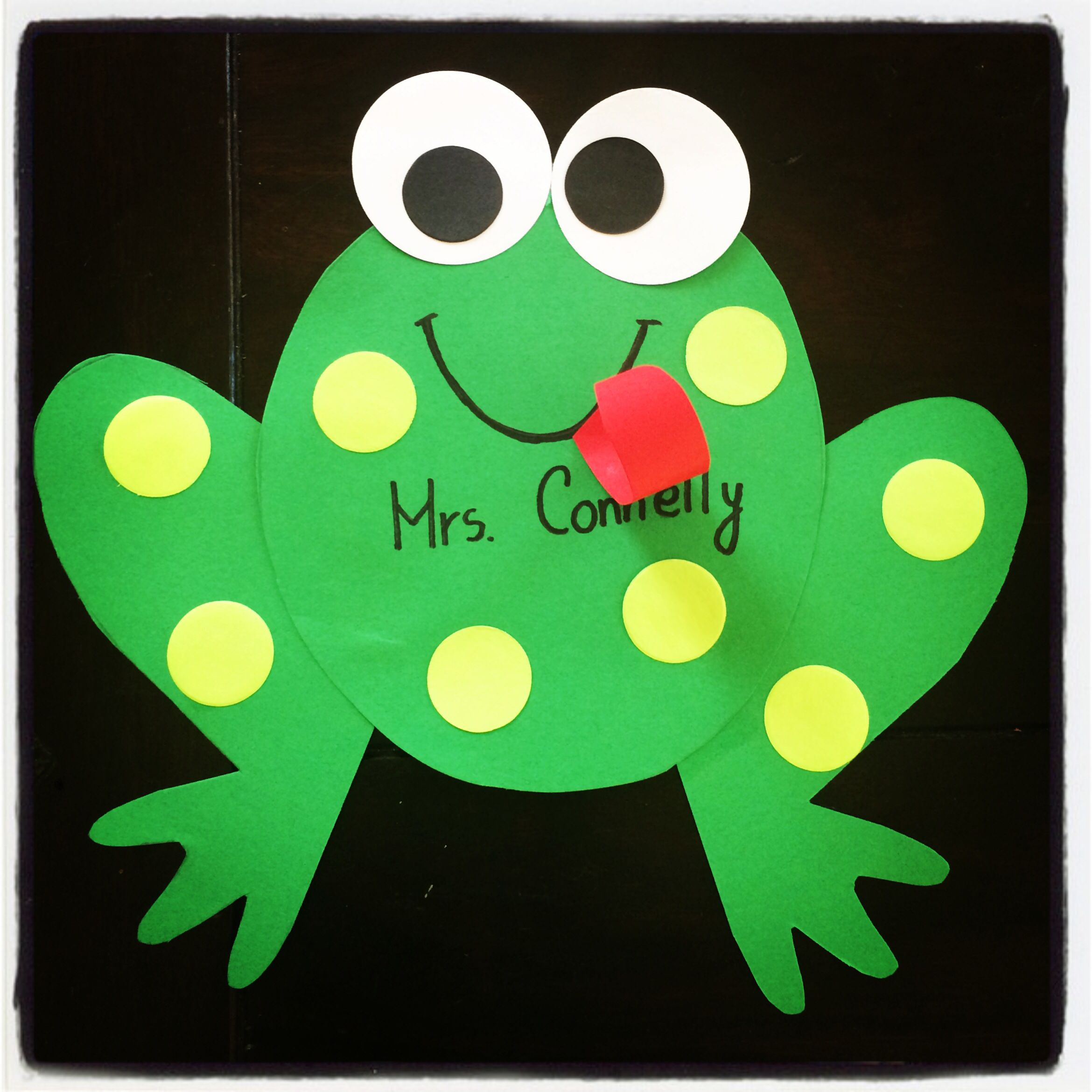 Kindergarten frog craft hop into spring spring into for Frog crafts for preschoolers