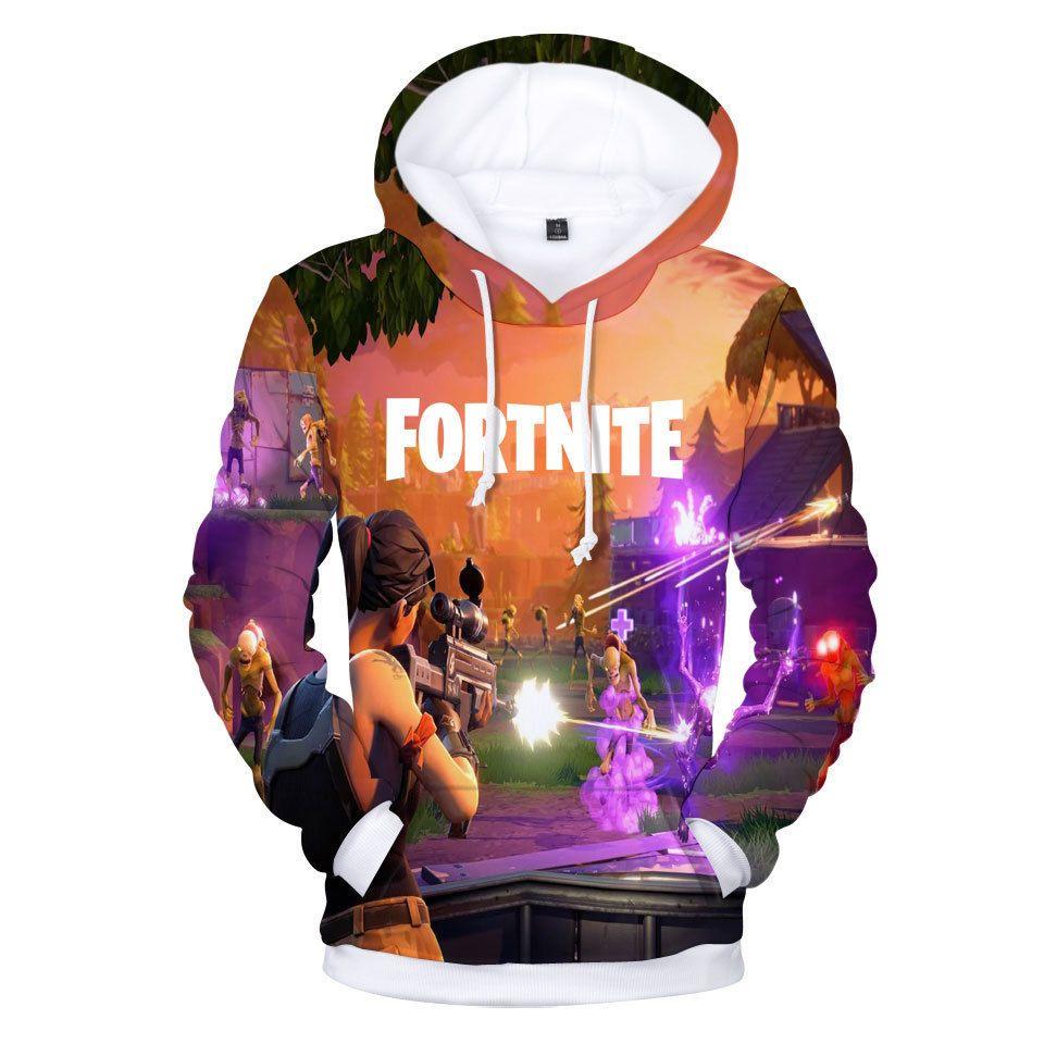 3d30cc820f6 3d Printed  Fortnite Pullover Plus Size 4XL O-Neck Hooded men hoodies  sweatshirts
