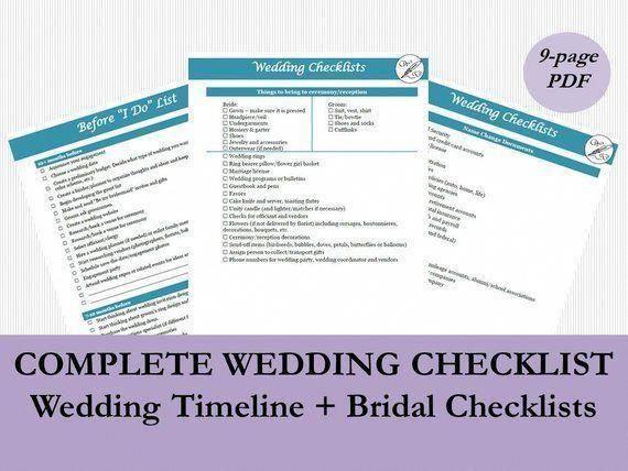 Wedding Planning Timeline Template, Wedding Checklist ...
