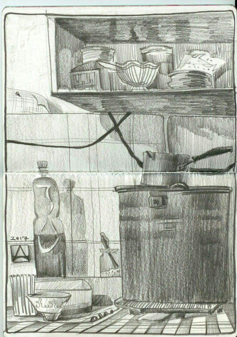 Granny\'s kitchen. 20*30cm,grafite pencil | my sketches | Pinterest ...