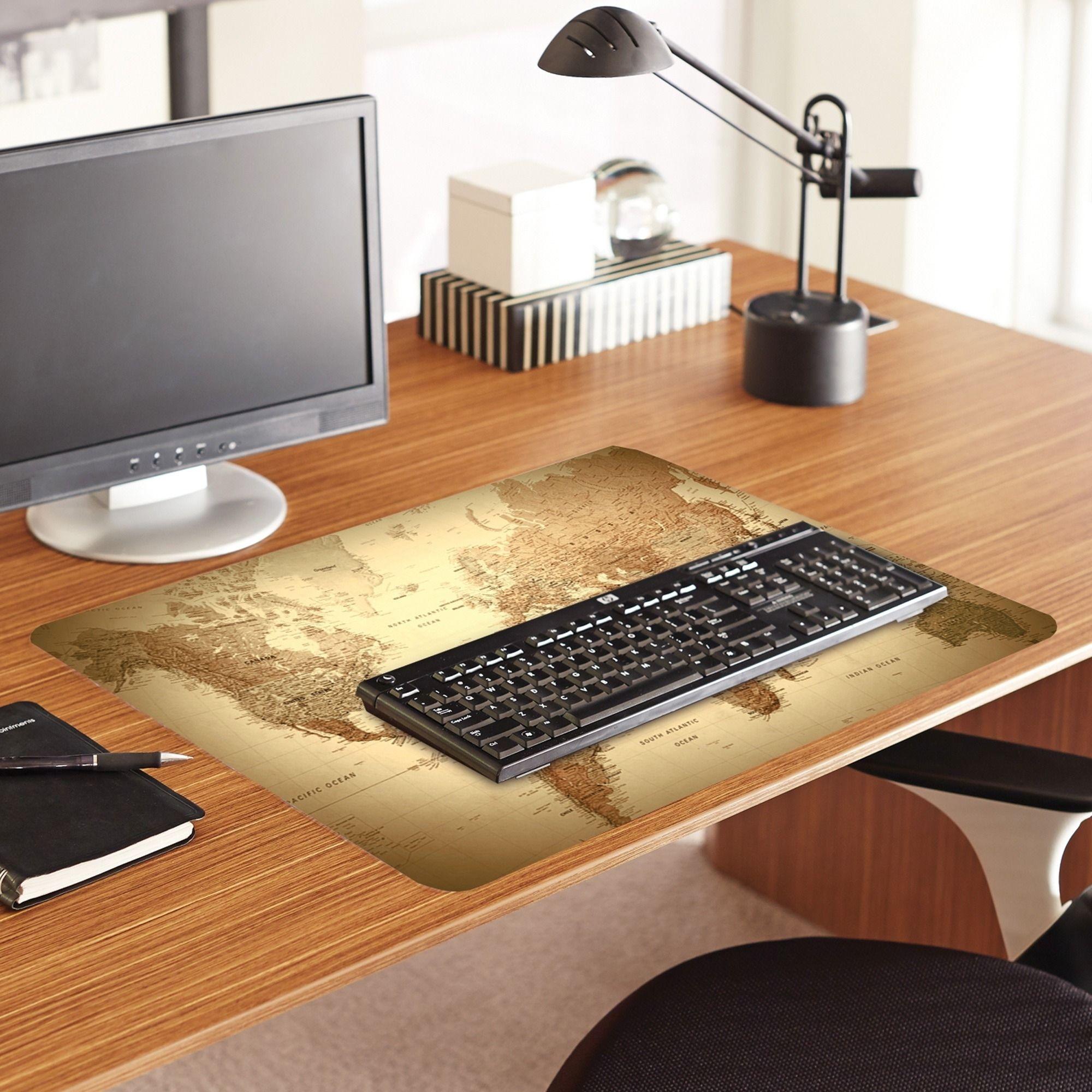 Es robbins world map printed designer desk pad custom products es robbins world map printed designer desk pad custom gumiabroncs Images