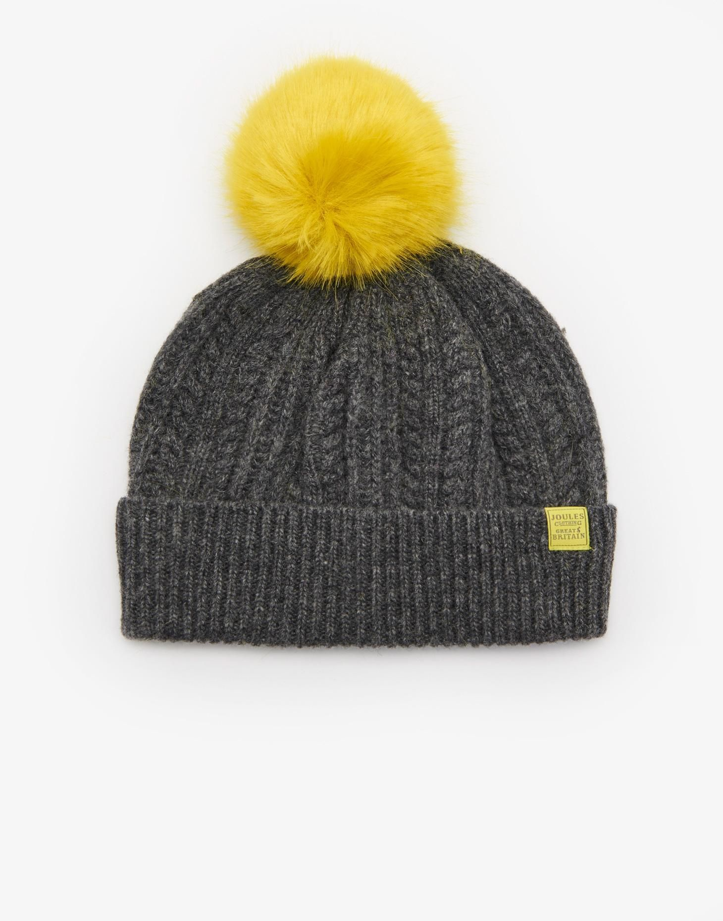 1ad3c852 Bobblehat Dark Grey Marl Bobble Hat , Size One Size | Joules UK | My ...