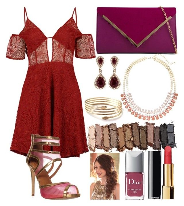 """""""Date Night❤"""" by tumblrmegirl ❤ liked on Polyvore featuring Boohoo, ALDO, Effy Jewelry, Lane Bryant, Urban Decay, Chanel and Christian Dior"""