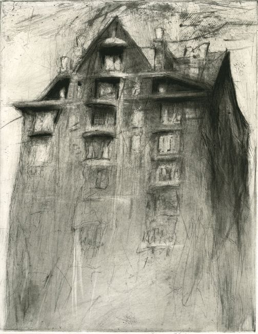 Lee Newman, 'Gothic Apartment' etching