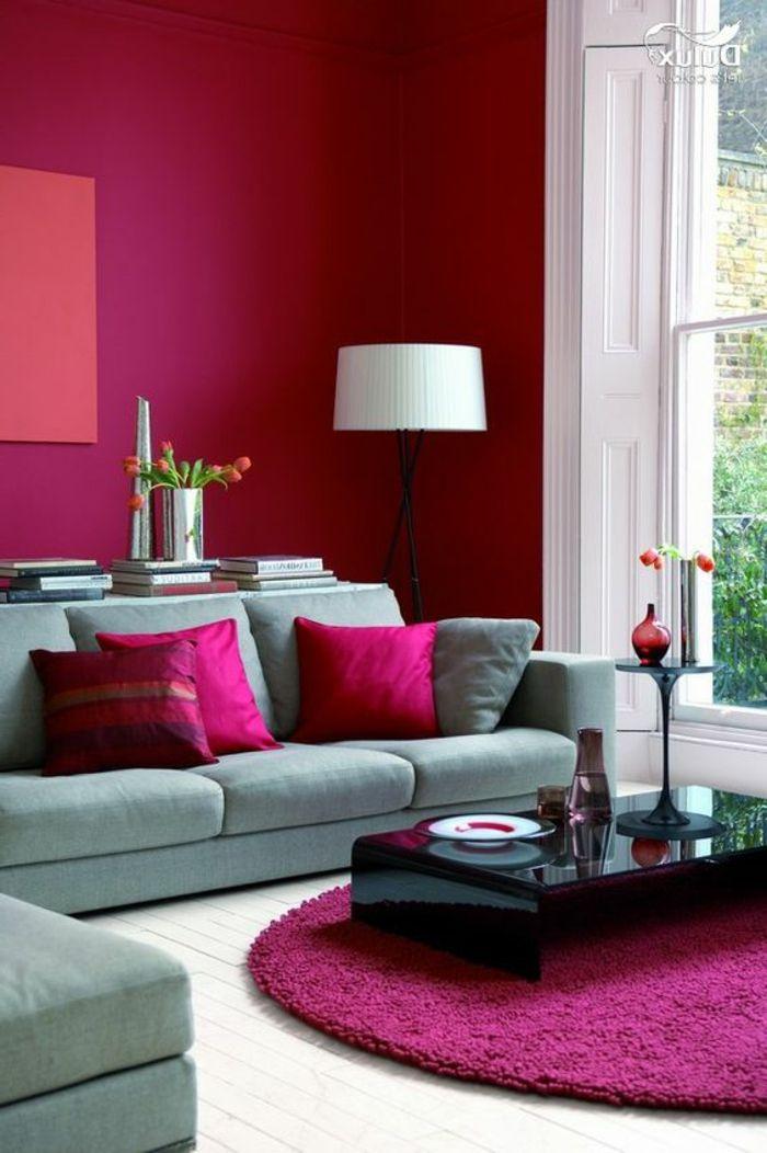▷ 1001 + idées déco originales pour le salon rose et gris   Salons ...